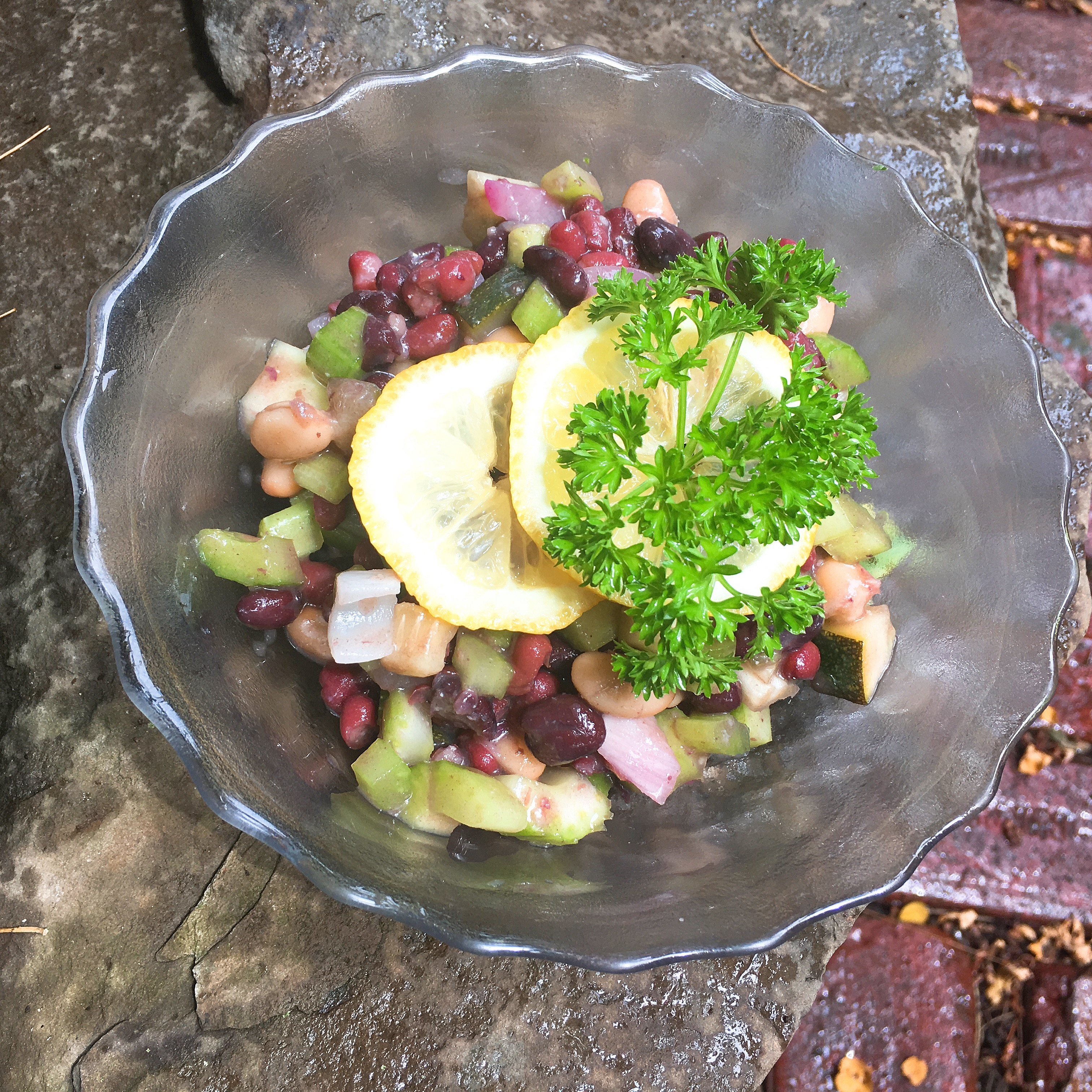 3 Bean Salad with Celery and Miso Sauce | Free Belly Dance