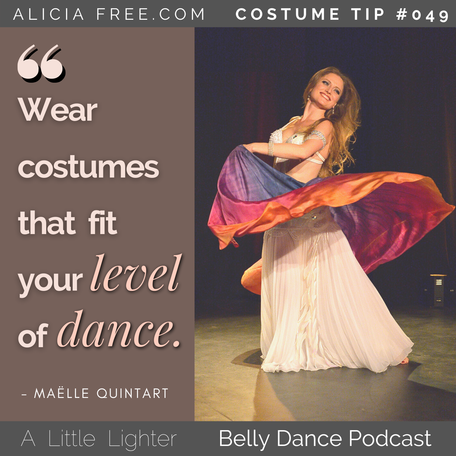 Belly Dance-Podcast 049 Maelle Costume Tip