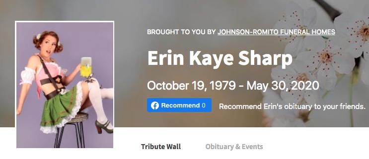 Erin Sharps Obituary Photo